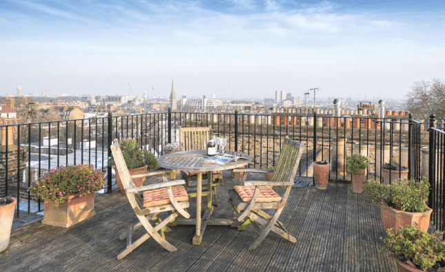 London terraces for New Years Eve