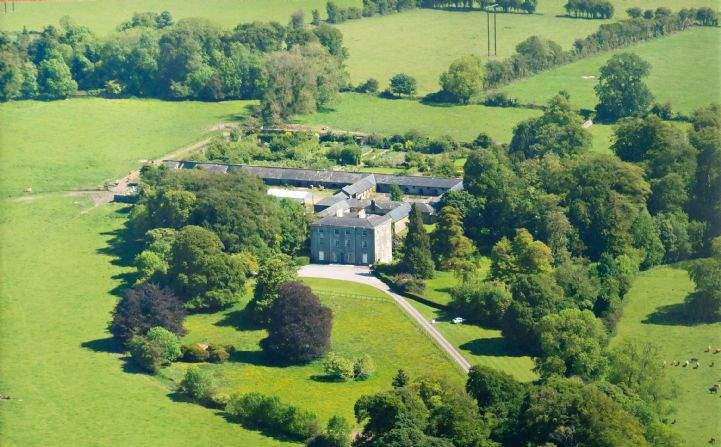 Aerial view, Ballindoolin House, Carbury, Co. Kildare