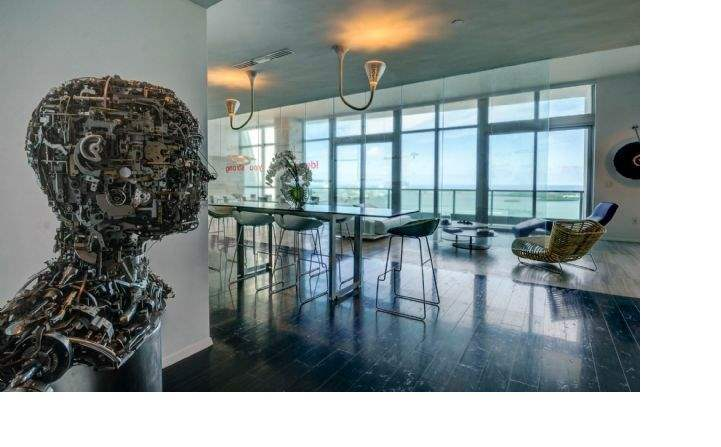 Brickell Bay Drive, Miami - Living area