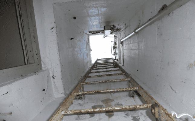 Nuclear bunker ladder