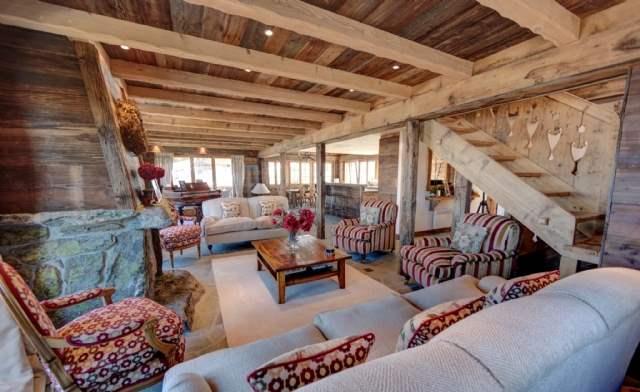 Living area, Chalet Loup Blanc, Valais