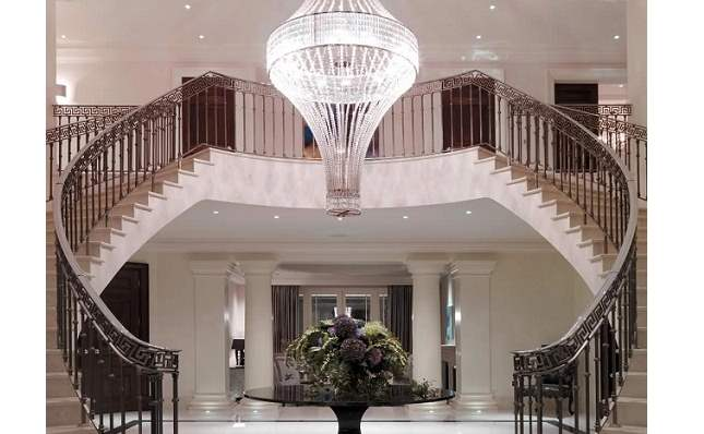 Clifton House Staircase and Chandelier