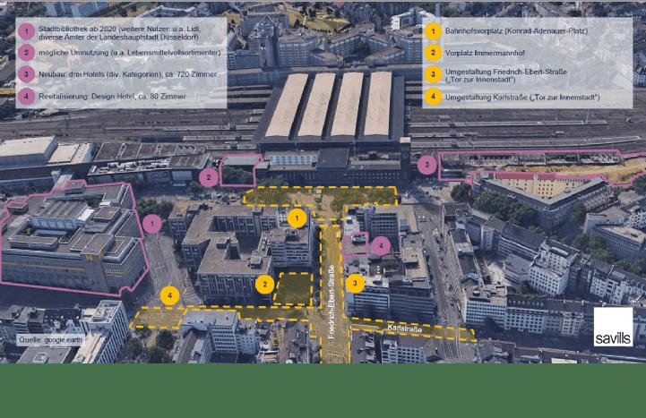 Teilmarkt Düsseldorf - der Hauptbahnhof im Überblick