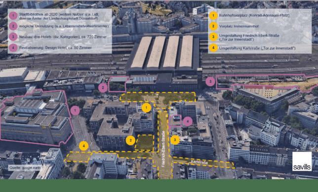 Teilmarkt Düsseldorf Hauptbahnhof im Überblick