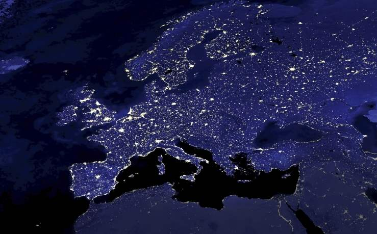 Europe in lights