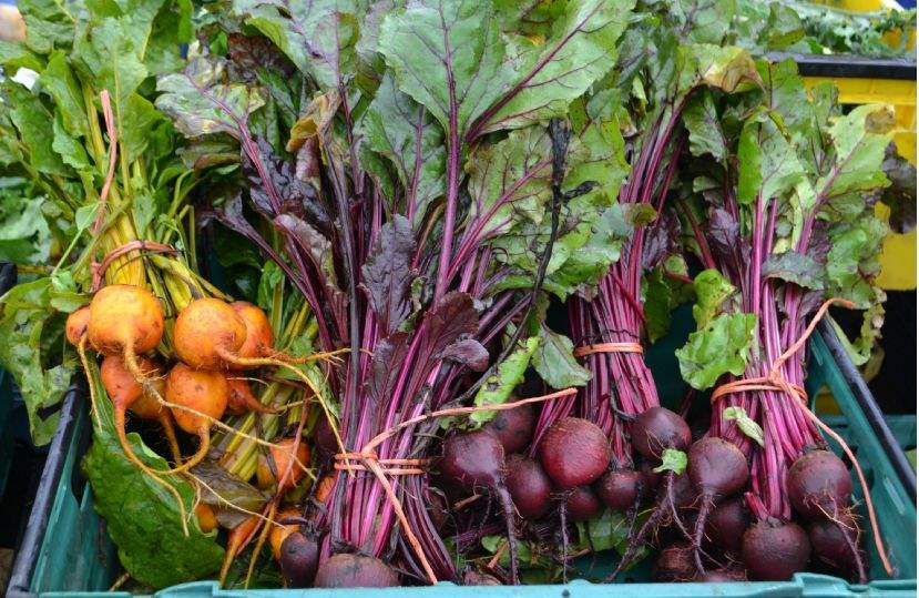 Produce at a farmers' market
