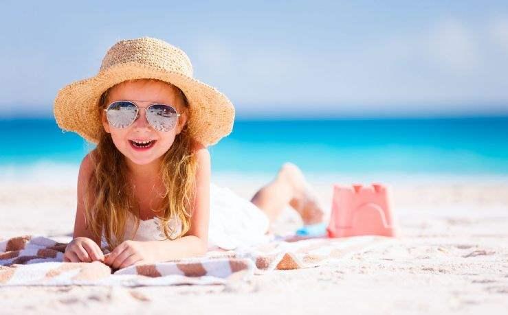 Family-friendly Caribbean beach