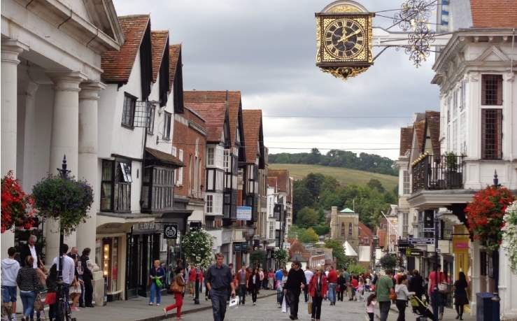 Second highest ranking town: Guildford High Street