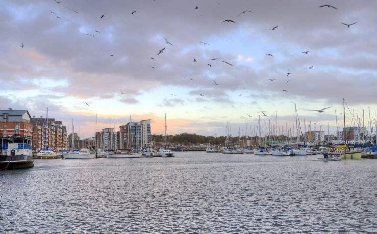 Ipswich marina, Suffolk