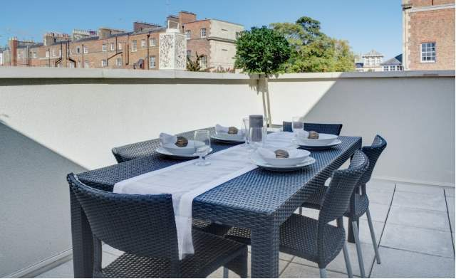 Roof terrace, Lansdown Villas, Gloucestershire