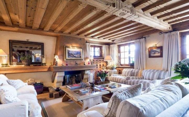 Living area, Chalet Merles and Amelia, Verbier