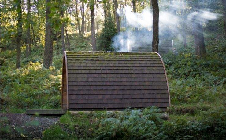 Glamping pods in the Lake District