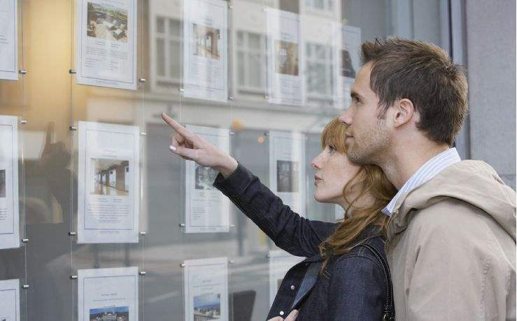 Property details in estate agent's window