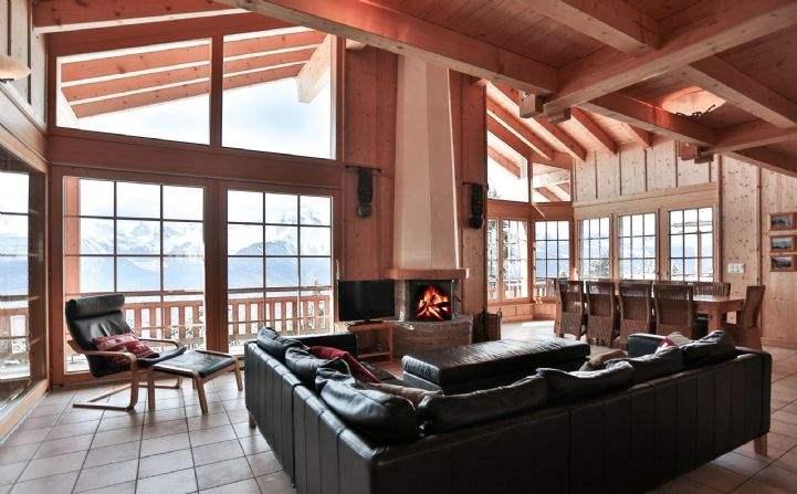 Living area, CHalet Rosablanche, Veysonnaz