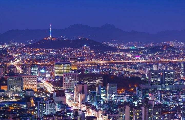 Seoul skyline at night