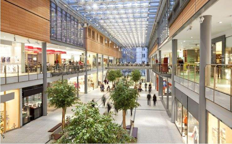 Stores in shopping centre